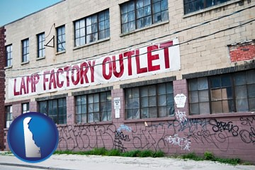 a lamp factory outlet store - with Delaware icon