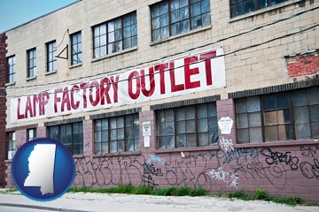 a lamp factory outlet store - with Mississippi icon