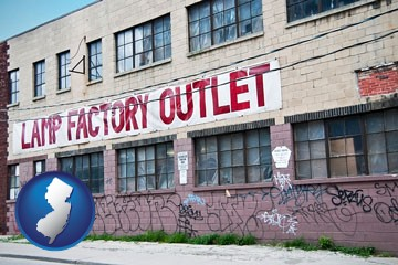 a lamp factory outlet store - with New Jersey icon