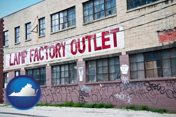 a lamp factory outlet store - with Virginia icon