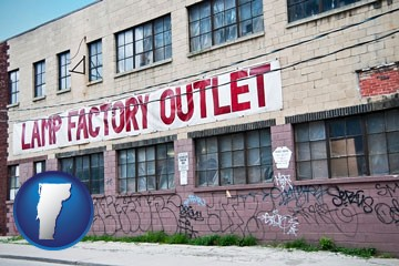 a lamp factory outlet store - with Vermont icon